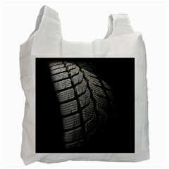 Auto Black Black And White Car Recycle Bag (One Side)