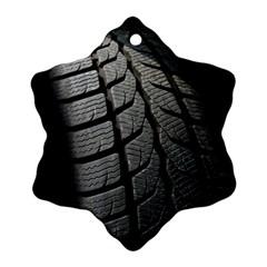 Auto Black Black And White Car Ornament (Snowflake)