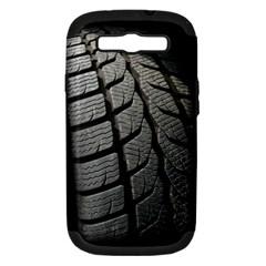 Auto Black Black And White Car Samsung Galaxy S III Hardshell Case (PC+Silicone)