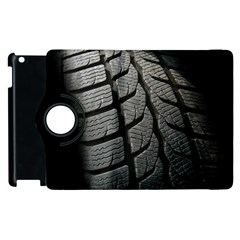Auto Black Black And White Car Apple iPad 3/4 Flip 360 Case