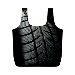 Auto Black Black And White Car Full Print Recycle Bags (M)