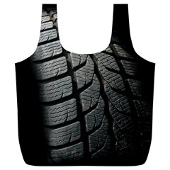 Auto Black Black And White Car Full Print Recycle Bags (L)