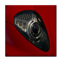 Auto Red Fast Sport Tile Coasters