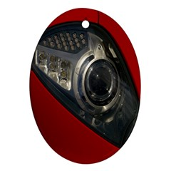 Auto Red Fast Sport Ornament (Oval)