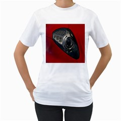 Auto Red Fast Sport Women s T-Shirt (White) (Two Sided)