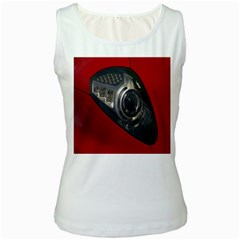 Auto Red Fast Sport Women s White Tank Top