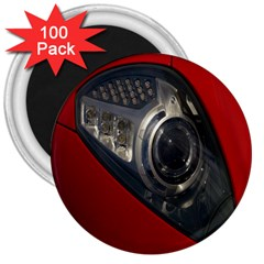 Auto Red Fast Sport 3  Magnets (100 Pack)