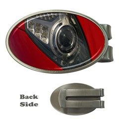 Auto Red Fast Sport Money Clips (oval)