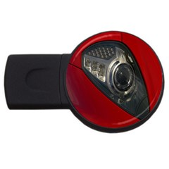 Auto Red Fast Sport USB Flash Drive Round (2 GB)