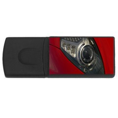 Auto Red Fast Sport USB Flash Drive Rectangular (1 GB)