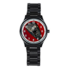 Auto Red Fast Sport Stainless Steel Round Watch
