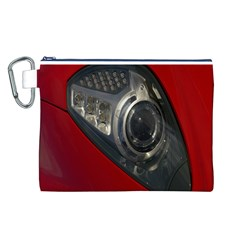 Auto Red Fast Sport Canvas Cosmetic Bag (l)