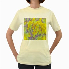Backdrop Background Abstract Women s Yellow T-Shirt