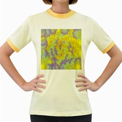 Backdrop Background Abstract Women s Fitted Ringer T-Shirts