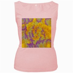 Backdrop Background Abstract Women s Pink Tank Top