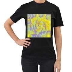 Backdrop Background Abstract Women s T-Shirt (Black) (Two Sided)