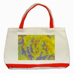 Backdrop Background Abstract Classic Tote Bag (Red)