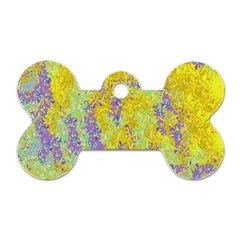 Backdrop Background Abstract Dog Tag Bone (Two Sides)