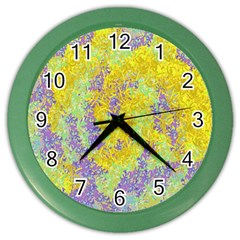 Backdrop Background Abstract Color Wall Clocks
