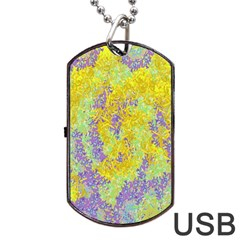 Backdrop Background Abstract Dog Tag USB Flash (Two Sides)