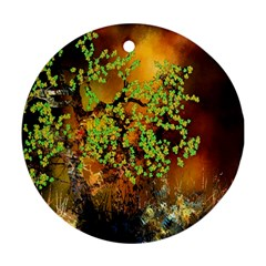 Backdrop Background Tree Abstract Ornament (round)