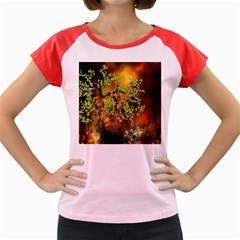 Backdrop Background Tree Abstract Women s Cap Sleeve T-Shirt