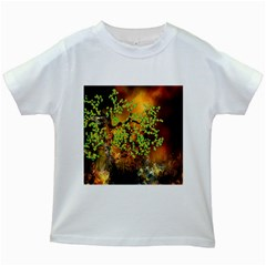 Backdrop Background Tree Abstract Kids White T-Shirts