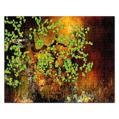 Backdrop Background Tree Abstract Rectangular Jigsaw Puzzl