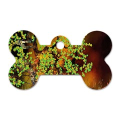 Backdrop Background Tree Abstract Dog Tag Bone (One Side)