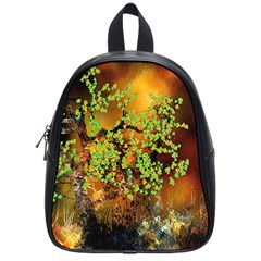 Backdrop Background Tree Abstract School Bags (Small)
