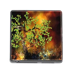 Backdrop Background Tree Abstract Memory Card Reader (Square)
