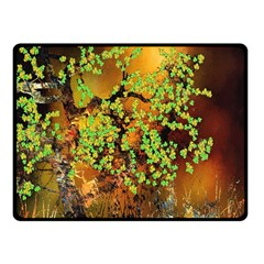 Backdrop Background Tree Abstract Fleece Blanket (small)