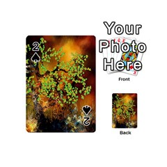 Backdrop Background Tree Abstract Playing Cards 54 (Mini)