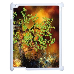 Backdrop Background Tree Abstract Apple iPad 2 Case (White)