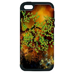 Backdrop Background Tree Abstract Apple iPhone 5 Hardshell Case (PC+Silicone)