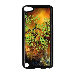 Backdrop Background Tree Abstract Apple iPod Touch 5 Case (Black)