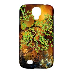 Backdrop Background Tree Abstract Samsung Galaxy S4 Classic Hardshell Case (pc+silicone)