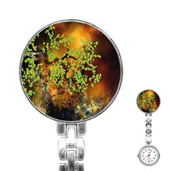 Backdrop Background Tree Abstract Stainless Steel Nurses Watch