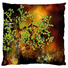 Backdrop Background Tree Abstract Large Flano Cushion Case (One Side)