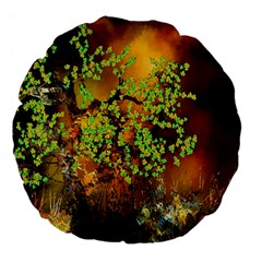 Backdrop Background Tree Abstract Large 18  Premium Flano Round Cushions