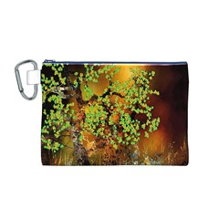 Backdrop Background Tree Abstract Canvas Cosmetic Bag (m)