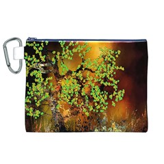 Backdrop Background Tree Abstract Canvas Cosmetic Bag (xl)