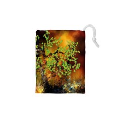 Backdrop Background Tree Abstract Drawstring Pouches (xs)