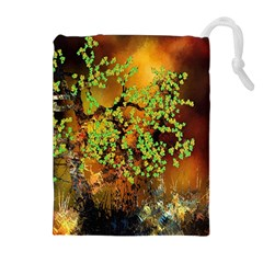 Backdrop Background Tree Abstract Drawstring Pouches (Extra Large)