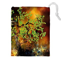 Backdrop Background Tree Abstract Drawstring Pouches (XXL)