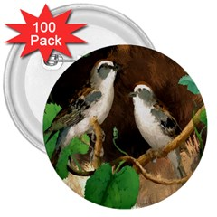 Backdrop Colorful Bird Decoration 3  Buttons (100 Pack)