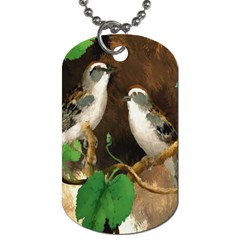 Backdrop Colorful Bird Decoration Dog Tag (Two Sides)