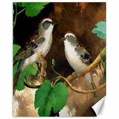 Backdrop Colorful Bird Decoration Canvas 11  x 14