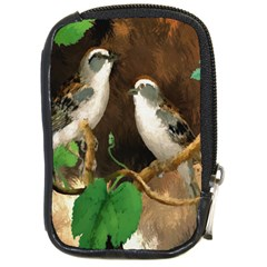 Backdrop Colorful Bird Decoration Compact Camera Cases