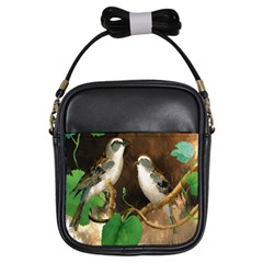Backdrop Colorful Bird Decoration Girls Sling Bags